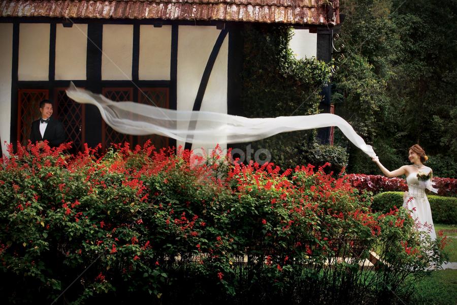 by Mark Vong - Wedding Bride & Groom