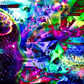 Activate by Josiah Hill-meyer - Digital Art Abstract