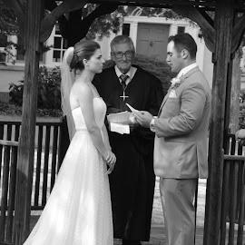 Sally n AJs Wedding by Karen Knedler - Wedding Bride & Groom