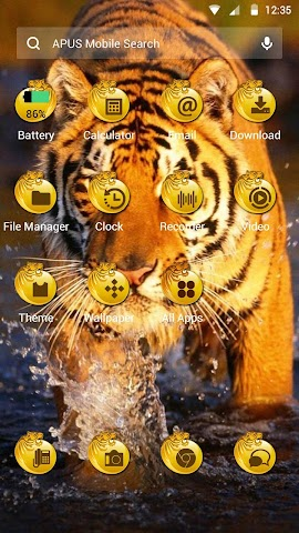 android The Tiger theme for APUS Screenshot 1