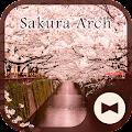 Wallpaper Sakura Arch Theme
