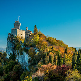 by Mario Horvat - Buildings & Architecture Public & Historical ( touristic, sky, italia, green, popular, san marino, hystoric, trees, travel, italy )