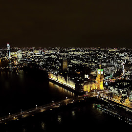 London by night by Cristina V - City,  Street & Park  Skylines ( skyline, night photography, cityscape, city, nightscape )