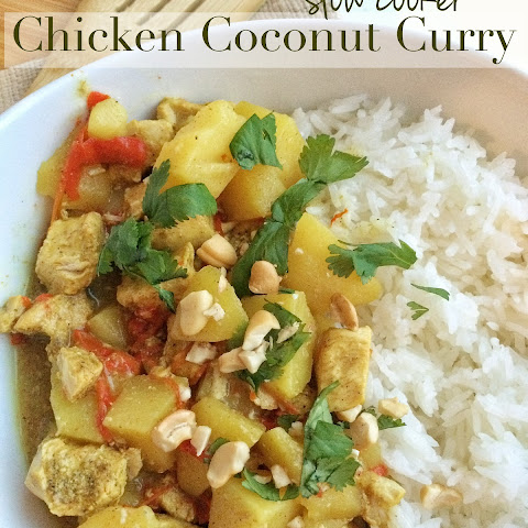 {slow cooker} Chicken Coconut Curry