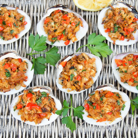 New England style stuffed clams #SundaySupper