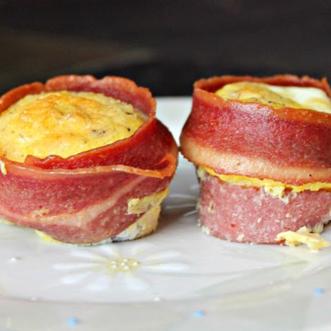 Bacon Wrapped Egg Muffins