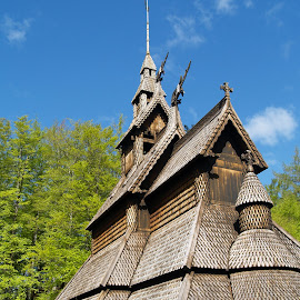 stavekirke by Ester Ayerdi - Buildings & Architecture Places of Worship ( history, bergen, viking, building, wooden, style, wooden church, church, kirke, architecture, fantoft, heritage, norway )