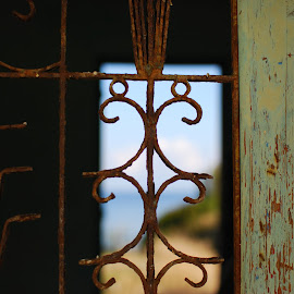 by Simona Serdiuc - Abstract Patterns ( opening, door, rusty, abandoned, decay )