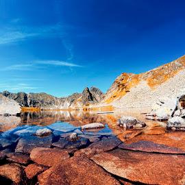 glacial lake by Costin Mugurel - Landscapes Waterscapes ( mountains, nature, waterscape, lake, landscape )