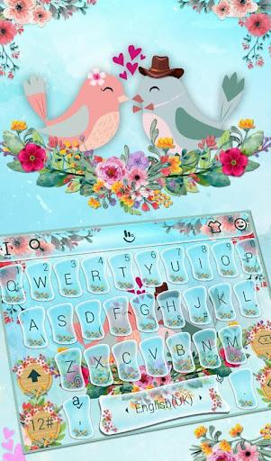Love Birds Keyboard Theme screenshot 1