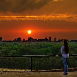 Belgrade sunset by Dragan Nikolić - Landscapes Sunsets & Sunrises