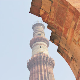 Majestic Qutub Minar  by Rohit Arora - Buildings & Architecture Statues & Monuments ( tower, qutubminar, qutab, monumnet, qutabminar, india, minar, qutub, travel photography, delhi )