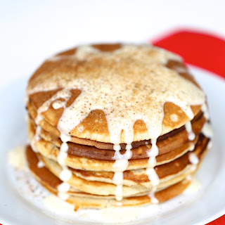 Cinnamon Pancakes with Cream Cheese Frosting