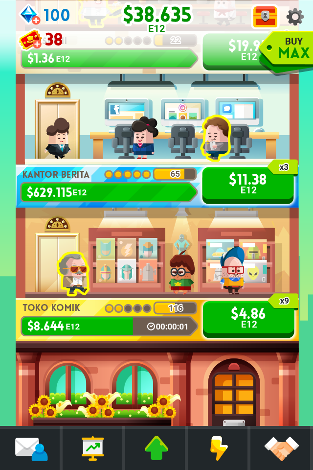 Cash, Inc. Money Clicker Game & Business Adventure Screenshot 1