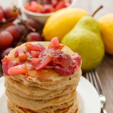 Pear Pancakes with Grape Sauce
