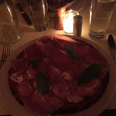 Prosciutto and Mozzarella Socca