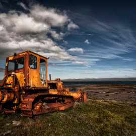 Broken Machine  by Þorsteinn H. Ingibergsson - Transportation Other ( iceland, nature, structor, rusty, landscape, abandoned )