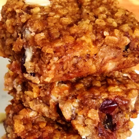 Pumpkin Cranberry White Chocolate Oat Power Bars
