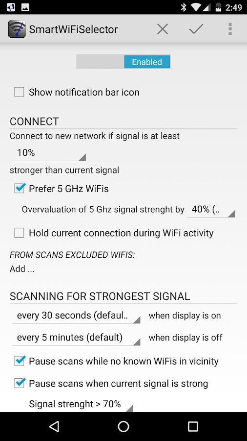 Smart WiFi Selector Screenshot 0