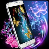 Neon Butterfly Theme - Glowing Wallpaper APK for Blackberry