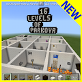 16 levels of parkour MCPE map