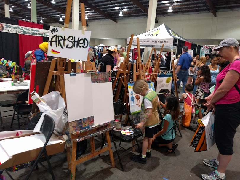 Kids enjoying their time painting with My Art Shed