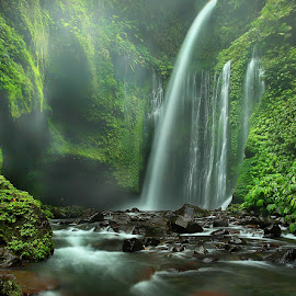 Waterfalls Tiu Kelep by Adhii Motorku - Landscapes Mountains & Hills