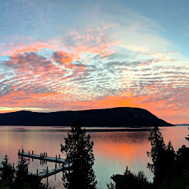 Saltspring Sunrise by Campbell McCubbin - Instagram & Mobile iPhone ( sunrise, marina, island, saltspring, dawn, clouds )
