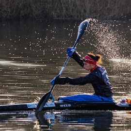 The canoeist, Bray by Ian Harvey-Brown - Sports & Fitness Watersports