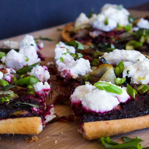 Spring Pita Pizza with Blackberries and Ricotta