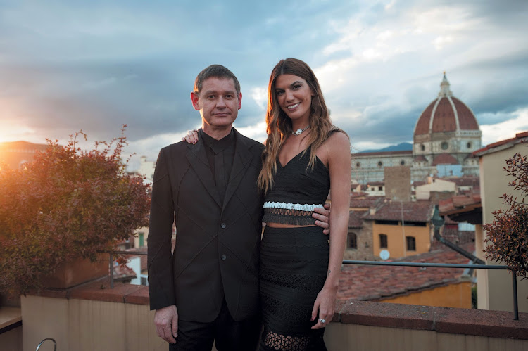Cartier CEO Cyrille Vigneron and Bianca Brandolini