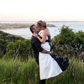 Happy by Mel Stratton - Wedding Bride & Groom ( married, happy, wed, bride, groom )