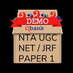 NTA UGC NET/JRF PAPER 1 : QBANK (DEMO) Icon