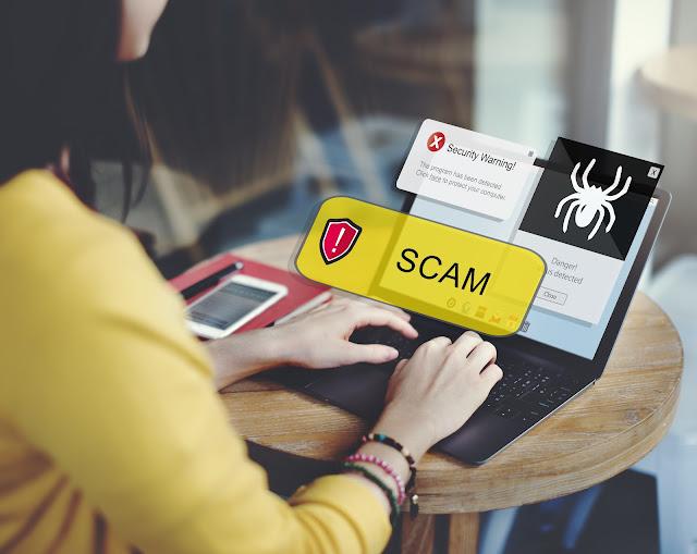 Technology Computer Scam Alert Concept
