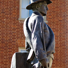 Rebel Soldier by Leah Zisserson - Buildings & Architecture Statues & Monuments ( soldier, winchester, statue, memorial, walking mall, virginia, rebel )