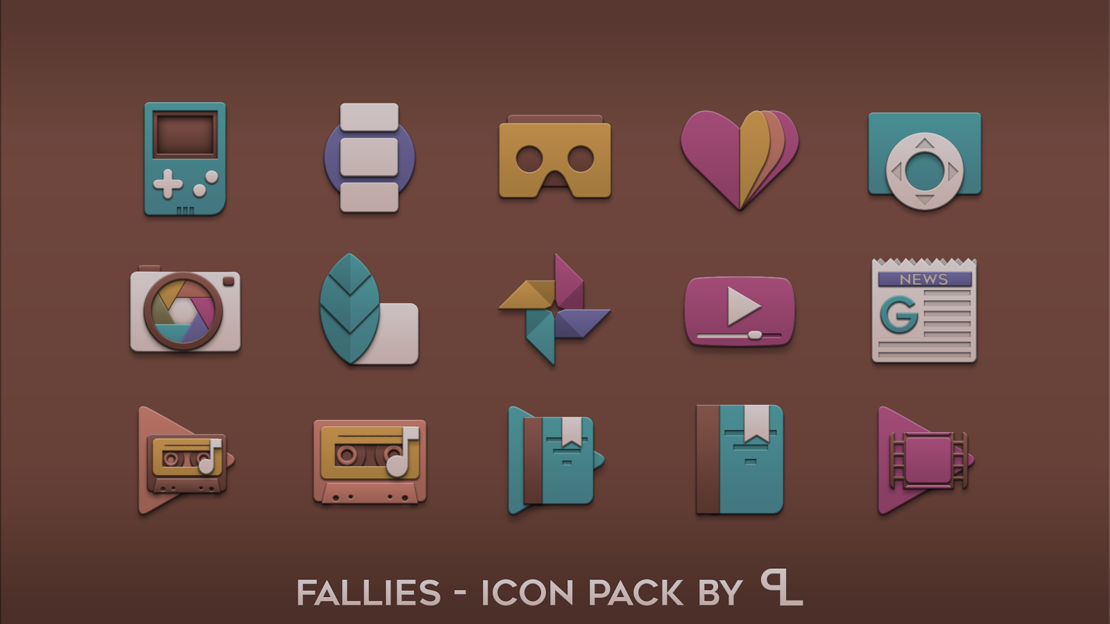 Fallies Icon pack - Chocolat Screenshot 3
