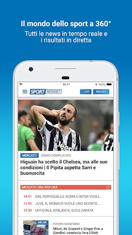 SportMediaset Screenshot