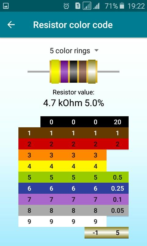 Radio components calculator Screenshot 5