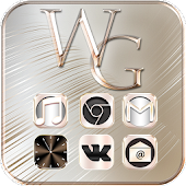 Download White Gold Theme Metallic Gold APK to PC