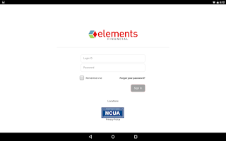 Screenshot of Elements Mobile Banking