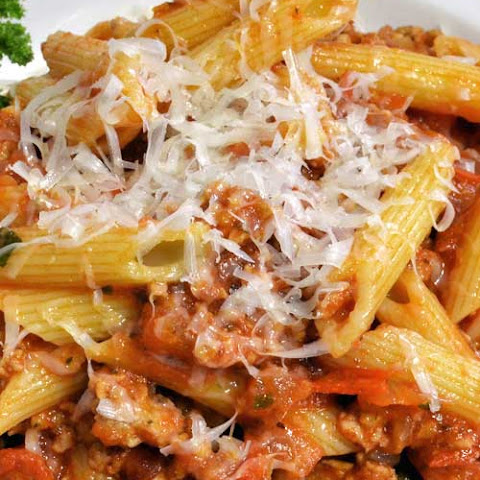Penne with Meat Sauce