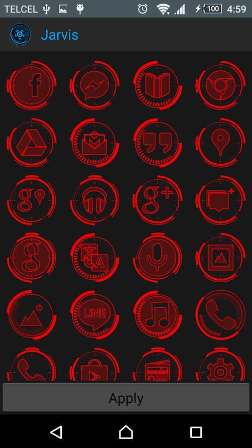 JARVIS - icon pack Screenshot 3