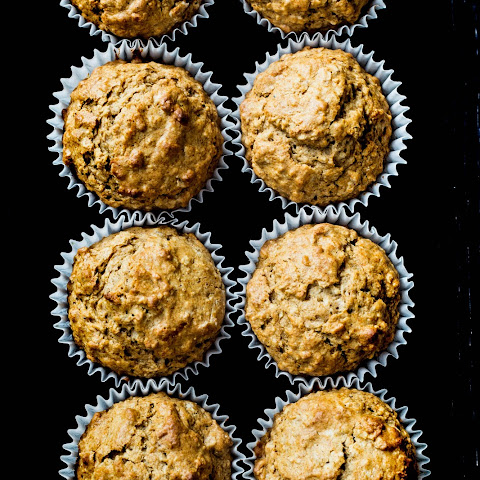 Almond Spiced Honey Oatmeal Muffins