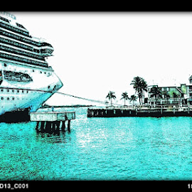 Leaving the port. by Kim  Bilodeau - Transportation Boats ( water, vacation, ocean, boat, cruise )