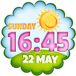 Clock Weather Widget APK Image