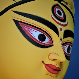 Eyes of our mother  by Deepangshu Chandra - Buildings & Architecture Statues & Monuments ( #eyes, #durgama, #beautiful, #colourful, #idols )