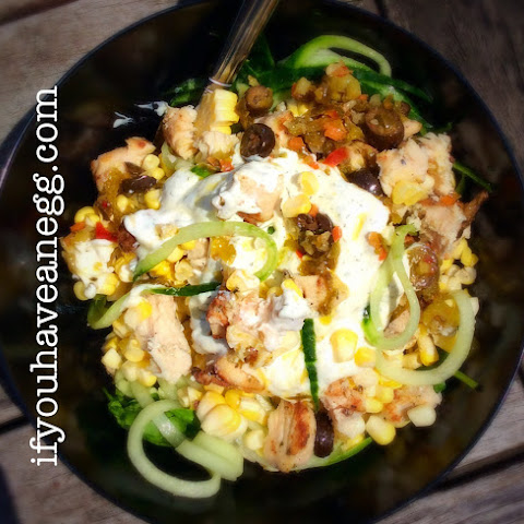 Greek Grilled Chicken Salad Zoodles Version – 7 Weight Watchers Smart Points Value