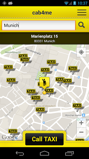 cab4me taxi finder screenshot 1