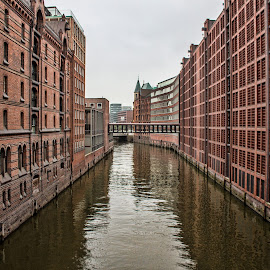 Hamburg by Gianluca Presto - Buildings & Architecture Homes ( water, canals, houses, water reflection, architectural detail, architecture, hamburg, city, leading lines, architectural, germany, perspective, homes )