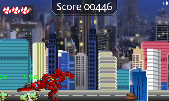 Dino robot Jump! apk screenshot